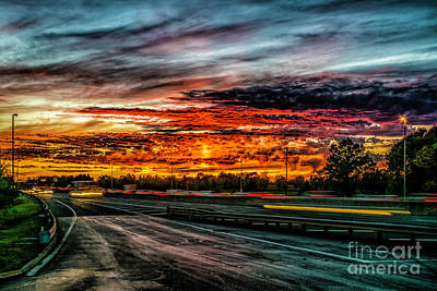 Photograph - Sunset On I-66 by Nick Zelinsky