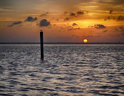 Photograph - Sunset On Laguna Madre Bay by Kristina Deane