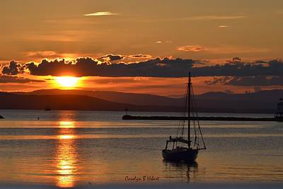 Wall Art - Photograph - Sunset On Lake Champlain by Carolyn Hebert