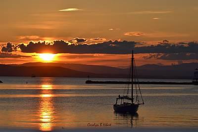 Wall Art - Photograph - Sunset On Lake Champlain by Carolyn Hebert