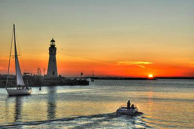 Sunset On Lake Erie Art Print