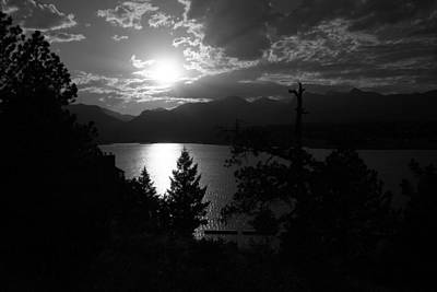 Sunset On Lake Estes Art Print