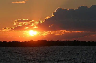 Photograph - Sunset On Lake Ontario by Living Color Photography Lorraine Lynch