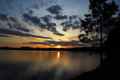 Sunset On Lake Quannapowitt Art Print by AnnaJanessa PhotoArt