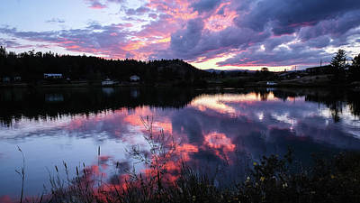 Photograph - Sunset On Lake Ramona by Monte Stevens