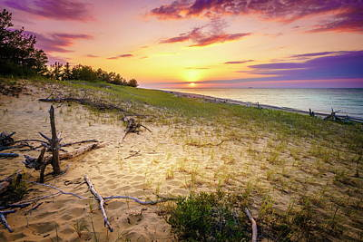 Photograph - Sunset On Lake Superior by Alexey Stiop