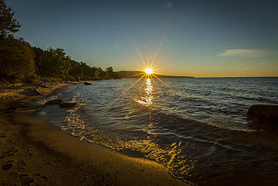 Photograph - Sunset On Lake Superior by Jack R Perry