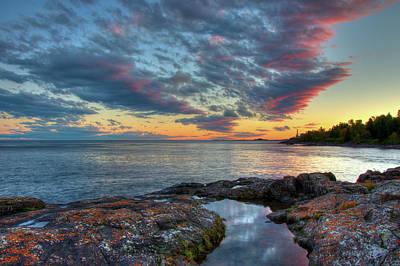 Photograph - Sunset On Lake Superior by Steve Stuller