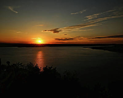 Photograph - Sunset On Lake Travis by Judy Vincent