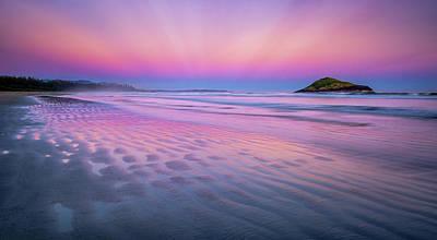 Photograph - Sunset On Long Beach by Tracy Munson