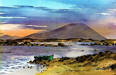 Painting - Sunset On Lough Cullin   Mayo by Val Byrne