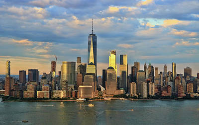 Photograph - Sunset On Lower Manhattan by Allen Beatty