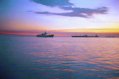 Digital Art - Sunset On Manila Bay by Rusty R Smith
