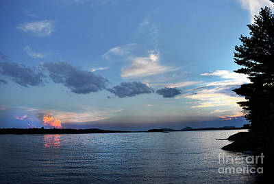 Photograph - Sunset On Millonocket Lake by Skip Willits