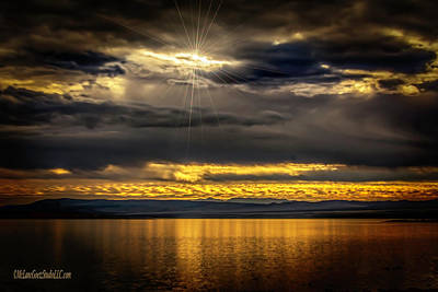 Salt Photograph - Sunset On Mono Lake Ca by LeeAnn McLaneGoetz McLaneGoetzStudioLLCcom
