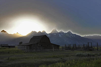 Sunset On Mormon Row  Wy Art Print by Vijay Sharon Govender