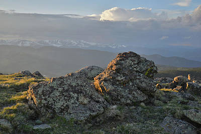 Photograph - Sunset On Mt .evans In Colorado by Ray Mathis