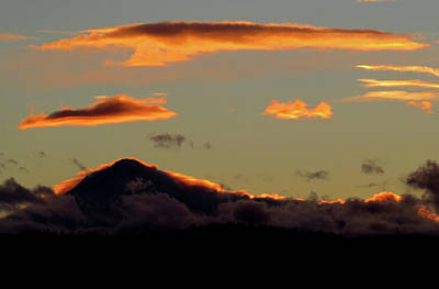 Photograph - Sunset On Mt. Hood by Jacqueline  DiAnne Wasson