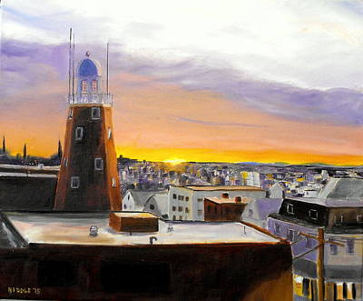 Painting - Sunset On Munjoy Hill by Jack Riddle