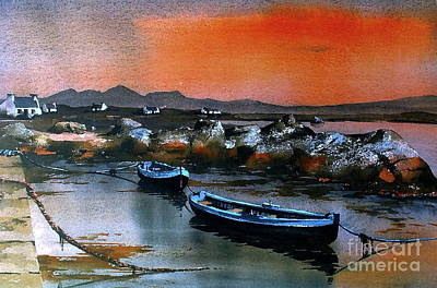 Painting - Sunset On Mweenish, Galway by Val Byrne