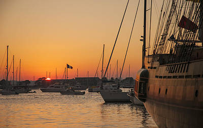 Photograph - Sunset On Newport Harbor by Mick Burkey