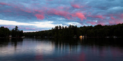 Landscapes Photograph - Sunset On Old Forge Pond by David Patterson