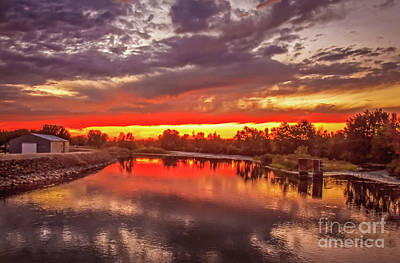 Photograph - Sunset On Payette River by Robert Bales