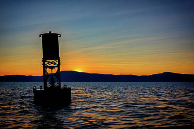 Downeast Photograph - Sunset On Penobscot Bay by Rick Berk