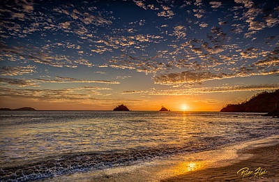 Photograph - Sunset On Playa Danta by Rikk Flohr