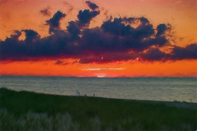 Photograph - Sunset On Racepoint Beach by Jeff Folger