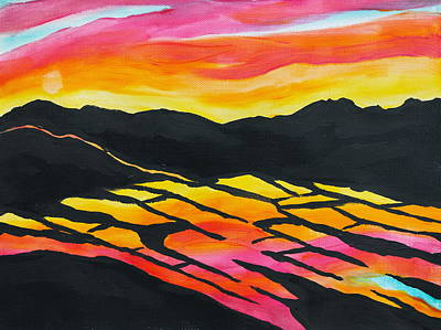 Painting - Sunset On Rice Fields I by Michele Myers