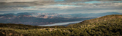 Photograph - Sunset On Roosevelt Lake Panorama by Teresa Wilson