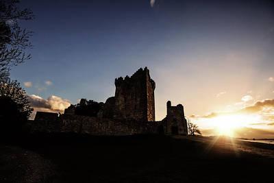Sunset On Ross Castle Art Print