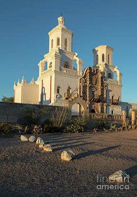 Photograph - Sunset On San Xavier Del Bac by Sandra Bronstein