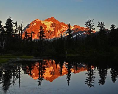 Photograph - Sunset On Shuksan Mt by Jack Moskovita
