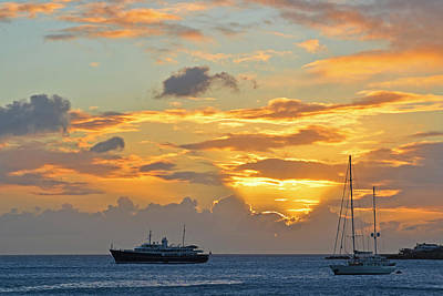Sint Maarten Photograph - Sunset On Simpon Bay Saint Martin Caribbean by Toby McGuire