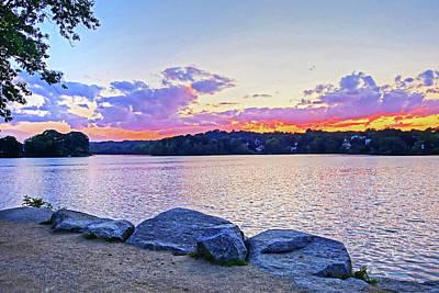 Photograph - Sunset On Spy Pond Arlington Ma by Toby McGuire