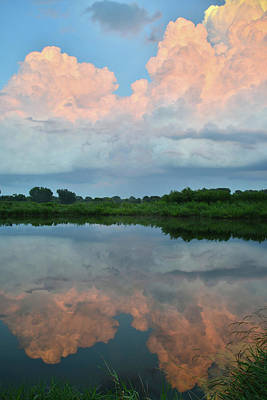 Photograph - Sunset On Storm Clouds Reflecting In Sullivan Lake by Ray Mathis
