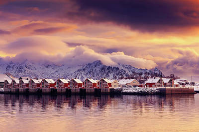 Photograph - Sunset On Svolvaer by Philippe Sainte-Laudy