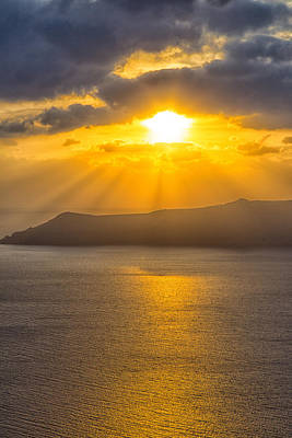 Photograph - Sunset On The Aegean Sea 2 by Kathy Adams Clark