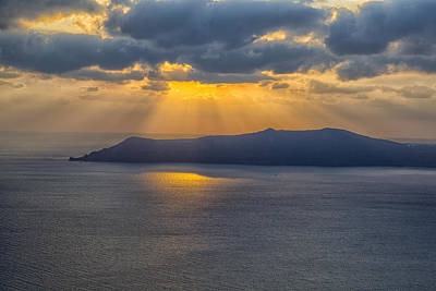 Photograph - Sunset On The Aegean Sea by Kathy Adams Clark