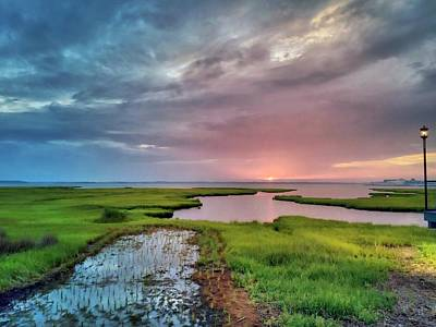 Photograph - Sunset On The Bay by Chris Montcalmo