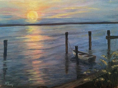 Painting - Sunset On The Bay by Margie Perry