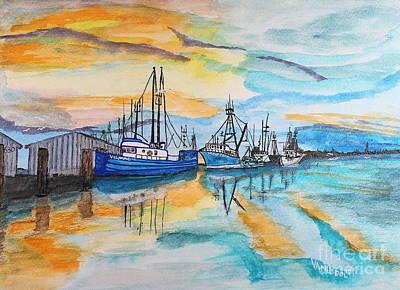 Painting - Sunset On The Bayou by Scott D Van Osdol