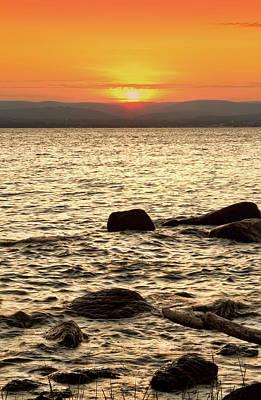 Sunset On The Beach Art Print by Alexander Mendoza