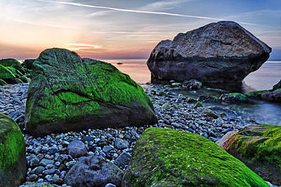 Long Island Photograph - Sunset On The Beach At Horton Point by Rick Berk