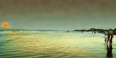 Sunset On The Beach Art Print by Ken Gimmi