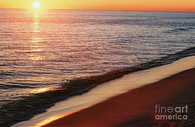 Panama City Beach Photograph - Sunset On The Beach by Ronnie Glover