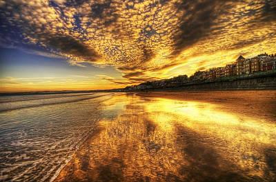 Sunset On The Beach Art Print by Svetlana Sewell