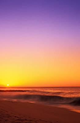 Sunset On The Beach Print by Vince Cavataio - Printscapes